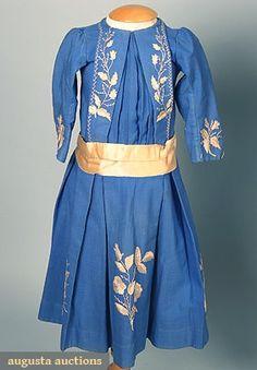 1880 Girl's Winter Dress Culture: American Medium: wool, silk