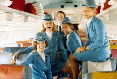 "Pan Am Stewardesses, 1960s Know this isn't the right airline but Susie Wolf was a ""Stew"" at this time"