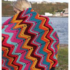 Crochet Ripple, Manta Crochet, Crochet Afghans, Crochet Blankets, Ripple Afghan, Chevron Crochet Patterns, Crochet Blanket Patterns, Crochet Ideas, Modern Crochet Blanket