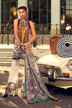 Elaan Lawn Suit, Ladies Replica Shop, Embroidered Dresses.