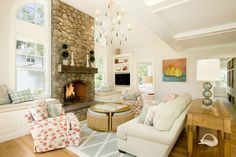 stone fireplace vaulted ceiling - Google Search