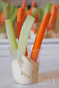 Sweet Little Parties: {eat} vege sticks & dip in a cup!