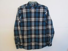 American Eagle Outfitters-MEN'S Prep. Fit CASUAL SHIRT-LONG SLEEVE-COTTON-LARGE #AmericanEagleOutfitters #ButtonFront