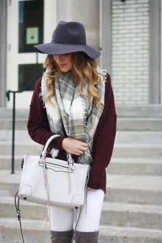 Burgundy and White + a $1000 Giveaway! | Twenties Girl Style