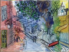 Raoul Dufy : Train en Gare