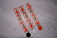 ONE Pacifier Holder SF Giants Baseball World by Sassydoodlebaby, $5.00