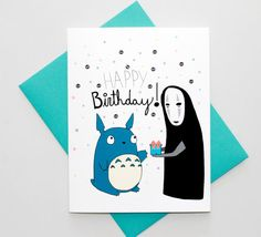 Totoro And No Face Birthday Card | 47 Insanely Adorable Studio Ghibli Items You Need Immediately