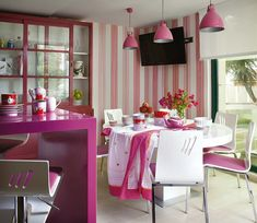 kitchen in the pink..