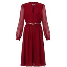 Whistles Sofie Rae Dress, Burgundy
