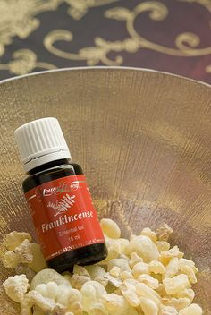 Frankincense.  An essential oils that is known to heal many ailments.