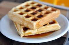Classic Buttermilk Waffles-- Recipe makes about 5 round waffles; don't spray waffle iron each time or waffles won't be crunchy