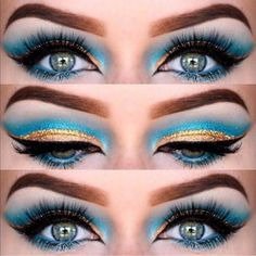 Maquiagem cleopatra olhos claros