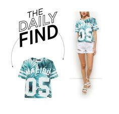 """""""Daily Find: New Look Cropped Baseball T-Shirt"""" by polyvore-editorial ❤ liked on Polyvore"""