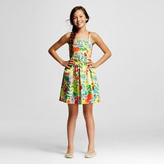 Okay, last girls department dress, I promise. More bold colours and patterns on a simple style. This is the kind of thing I would wear to the beach.