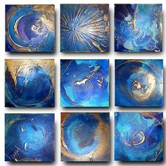 9 x Original Set of Art by Caroline by AffordableArtGallery, $320.00