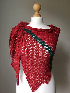 Free crochet pattern: Red Heart shawl by Petra Skorjanc