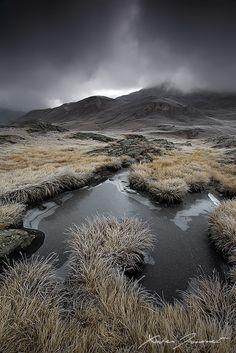 Under the storm by XavierJamonet on DeviantArt... Stormy weather from the highlands of Plan du Lac in France. Vanoise National Park, French Alps