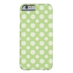 Green Daisies Floral Pattern iPhone 6 Case #iphone6 #preorder #iphonecase #iphone6case