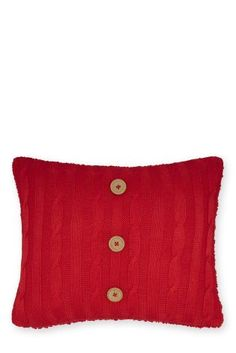 Buy Red Knitted Cushion from the Next UK online shop