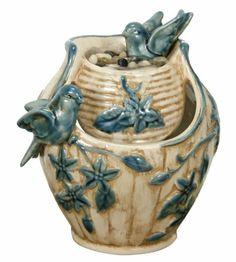 Amazon.com: Nature's Garden Tabletop Garden Fountain, Ivory: Patio, Lawn & Garden