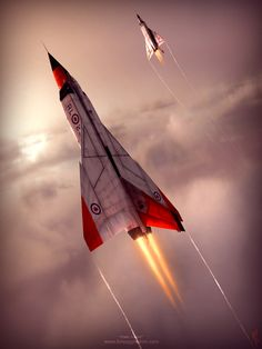 It may not be British, but it loosely related to the The Avro Arrow was a delta-winged interceptor aircraft, designed and built by Avro Canada as the culmination of a design study that began in Military Jets, Military Aircraft, Fighter Aircraft, Fighter Jets, Avro Arrow, Ala Delta, Aviation Art, Aviation Industry, Jet Plane