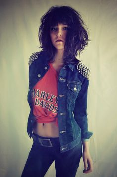 Made to Order Studded Levi's Denim Jacket by debuts on Etsy, $100.00
