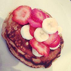 Breakfast . Homemade apple and cinnamon pancakes