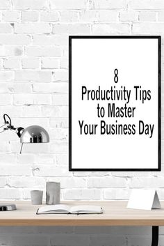 8 Productivity Tips to Master Your Business Day - small business time management Small business productivity tips that are established will give you more control over your day. Read more about what you can do to manage your day better. Business Organization, Life Organization, Calendar Time, Productivity Apps, Business Planning, Business Ideas, Hobbies That Make Money, Business Articles, Time Management Tips
