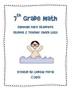 Heres a checklist using i can statements for the 4th grade common 7th grade math common core standards checklists fandeluxe