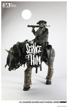 In Service of Him: Shadow Slinger and Funeral Horse set (coming in 2013)  1/6th scale