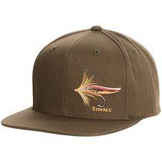 32a43f4a9ca48 Simms Fly Fishing Twill Flat Brim Snapback Hat Cap Loden Color -!   FlyFishing Fly