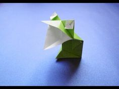 Origami Talking frog (rana habladora) tutorial - Teruo Tsuji - YouTube Oragami, Origami Paper, Origami Videos, Origami Animals, Business For Kids, Confirmation, Diy And Crafts, Creations, Make It Yourself