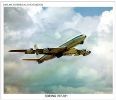 Pan Am Boeing 707-321. #Boeing 707 #Pan Am #Jet Age #panam #aviation #history #painting #Boeing #707 #panam.org