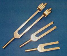 Hearing Testing. Figure shown: Three different sized tuning forks. The higher pitched forks (such as the 512 hz fork) are more appropriate for hearing testing. Citation: Hain, T. C. (2012). Hearing Testing.  American Hearing Research Foundation. Retrieved from http://american-hearing.org/disorders/hearing-testing/