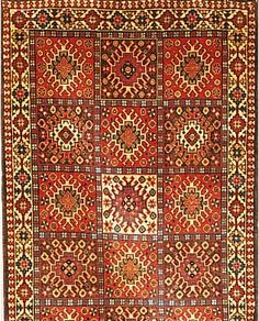 Yalameh,Persien ca 395 x 85 cm. Wolle auf Wolle.