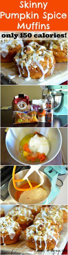 Skinny Pumpkin Spice Muffins with Walnut Streusel