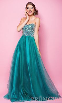 Floor Length Strapless Sweetheart Prom Dress. #Prom #party #ShopSimple