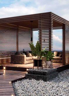 Terrace Design, Backyard Garden Design, Backyard Landscaping, Backyard Designs, Backyard Projects, Modern Landscaping, Outdoor Patio Designs, Outdoor Pergola, Diy Pergola