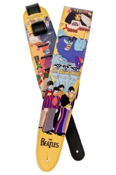 """Planet Waves Beatles Guitar Strap, Yellow Submarine by Planet Waves. $21.94. From the Manufacturer                Classic artwork from the 1969 """"Yellow Submarine"""" album flawlessly printed across the entire strap length make this the perfect addition to the Planet Waves Beatles strap collection. From Love Me Do to Revolution, the Beatles were arguably the most creative, diverse and influential band in pop music history. Planet Waves honors the Beatles' legacy with a unique colle..."""