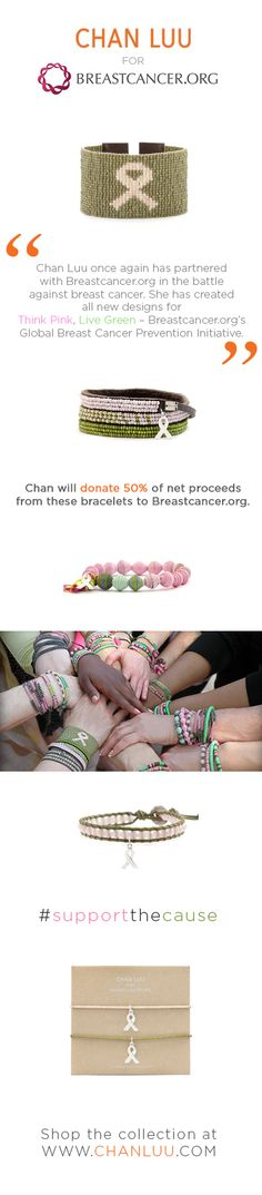 Shop the Chan Luu Breastcancer.org Collection here http://www.chanluu.com/womens-jewelry/chan-luu-for-breastcancer-org