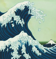 The Great Wave Off Kanagawa: Rabbit Edition Photo: This Photo was uploaded by s. The Great Wave Off Kanagawa: Rabbit Edition Photo: This Photo was uploaded by sm_artsy. Find other The Great Wave Off Kanagawa: Rabbit Edition pictures . Art And Illustration, Hokusai Great Wave, Art Asiatique, Art Japonais, Japanese Prints, Japanese Waves, Japanese Style, Art Design, Woodblock Print