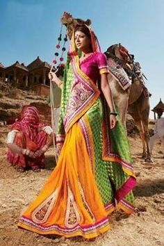 Orange And Green Color Saree - India Bollywood Индия इंडिया Indiana, Indie Mode, Bollywood, Yoga Studio Design, Amazing India, India Culture, Indian People, India Colors, Colours