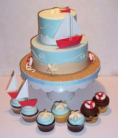 Sailboat Cake http://marj-theicingonthecake.blogspot.com/search/label/Animal%20Cakes