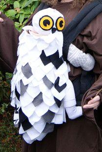 Babywearing Halloween costume - Hedwig the Owl