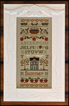 cross stitch pattern charms : Summer Band Sampler Little House Needleworks counted cross stitch. $10.70, via Etsy.