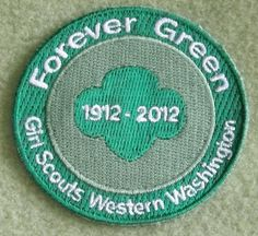 Girl Scouts Western Washington Forever Green 100th Anniversary patch