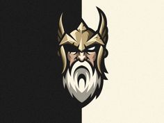 Odin designed by Tri Suseno Ari Wibowo. Connect with them on Dribbble; the global community for designers and creative professionals. Norse Mythology Tattoo, Arte Viking, Viking Tattoo Symbol, Beard Logo, Rapper Art, Game Logo Design, Esports Logo, Sports Team Logos, Lion Logo