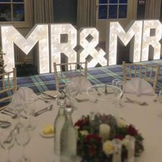 "Light Up Letters 💡 Venue Decor on Instagram: ""Don't forget as well as our MR & MRS we also have available to hire: - MR & MR - MRS & MRS - Either of above with your initial at the end .…"" Light Up Letters, Love And Light, Mr Mrs, This Is Us, Forget, Table Decorations, Furniture, Instagram, Home Decor"