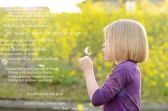 """Military child """"official"""" flower is the dandelion- love this poem"""