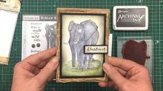 Video tutorial by Rachel Greig using Darkroom Door Wild Africa Vol 3 Rubber Stamps!